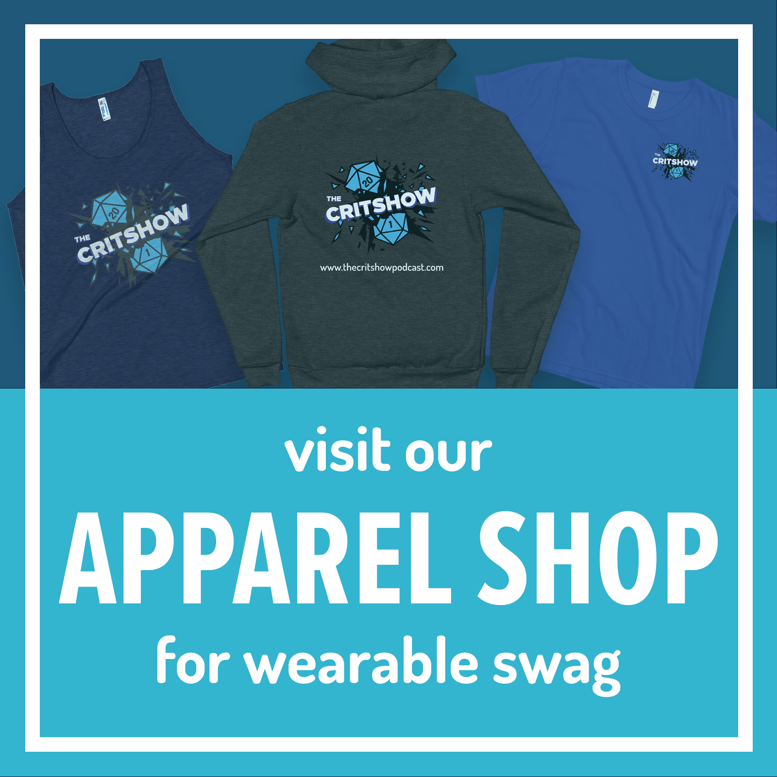 the Apparel Shop for wearable swag